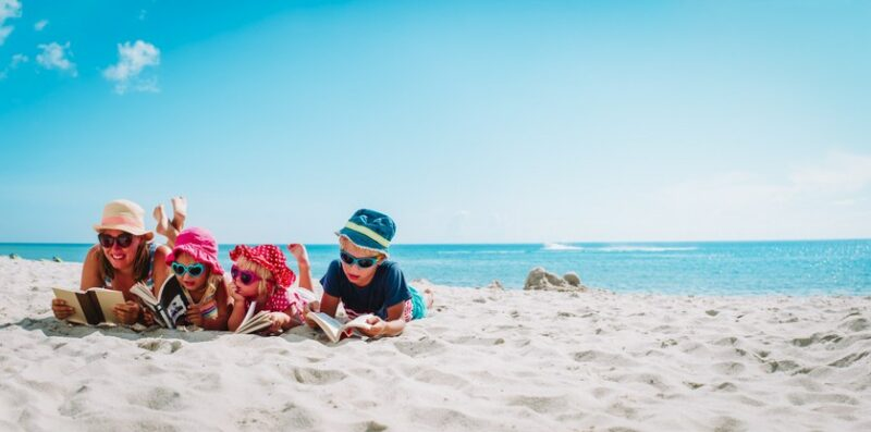 family beach holiday